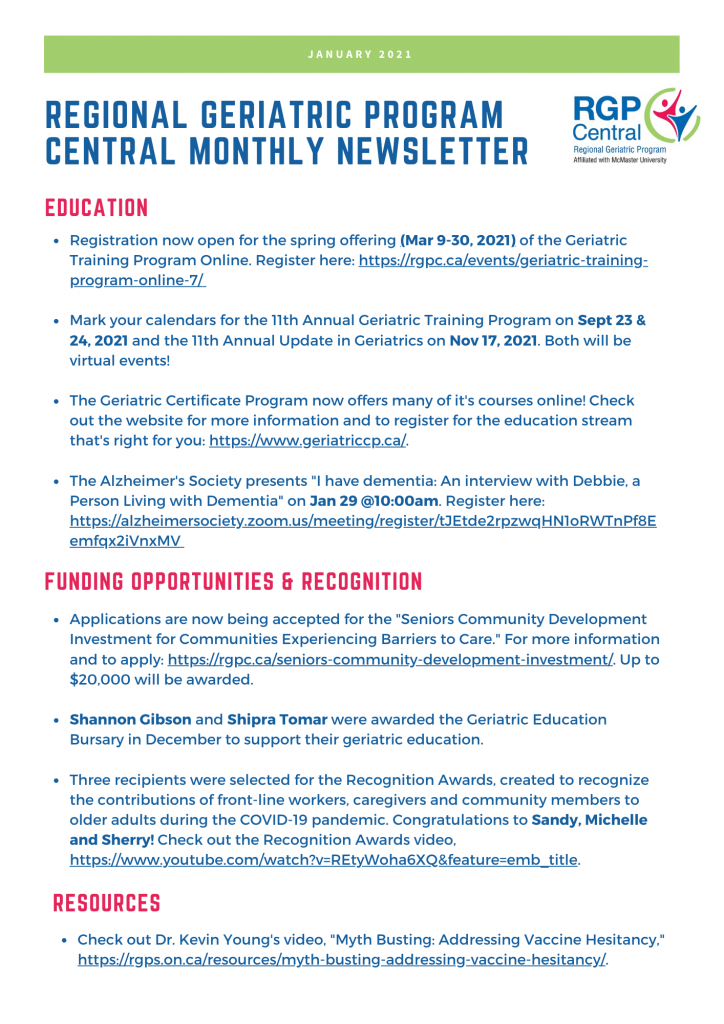 Link to January 2021 RGPc Newsletter